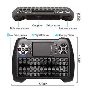 ANEWKODI T16 Backlit Wireless Mini Keyboard Bluelight Touchpad Mouse Remote