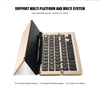 Keyboard Wireless Keyboard Mini Triple Folding BT 3.0 Laptop Gadget Bluetooth Keyboard Phone Gaming