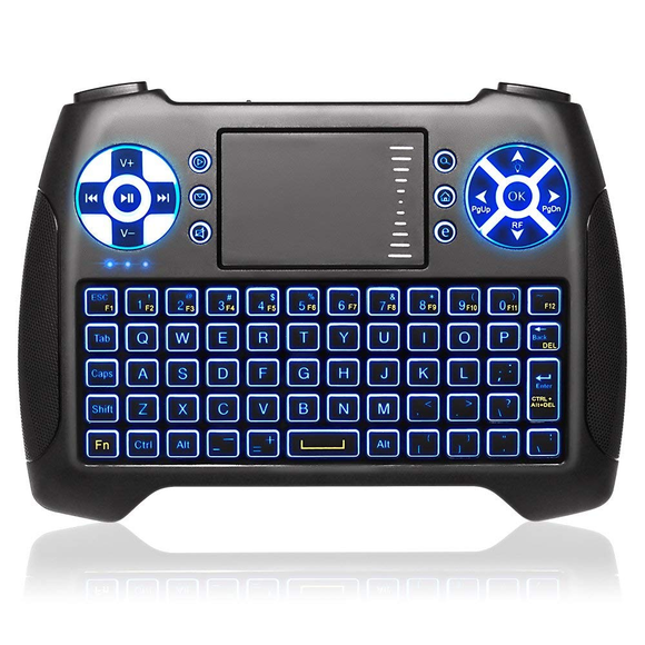 rectangle blue backlight mini wireless keyboard