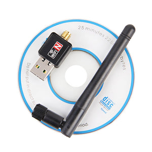 Mini USB Wifi Adapter 150Mbps 2dB Antenna PC USB Wi-fi