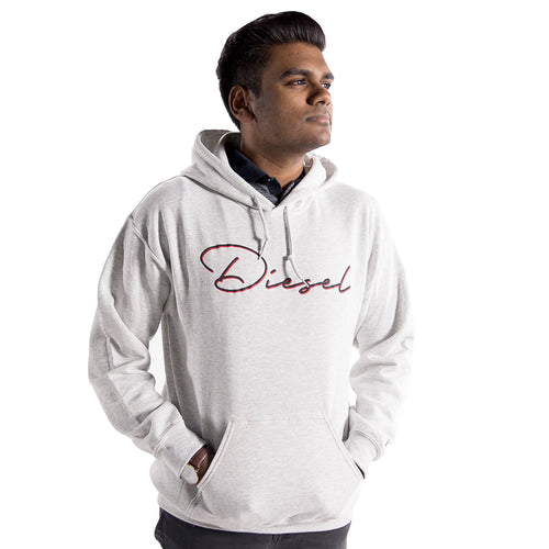 Men's Diesel Hoodie in Ash Grey