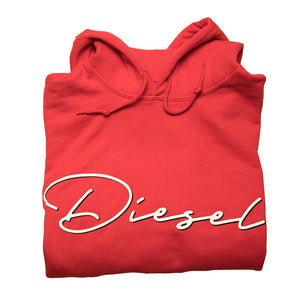 Men's Diesel Hoodie in Red