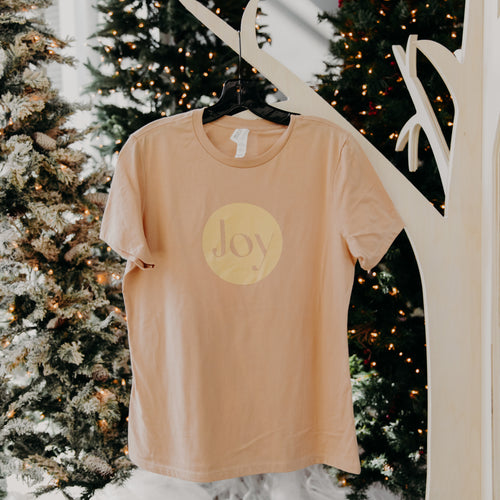 Joy Tee in Sand by Bella Canvas