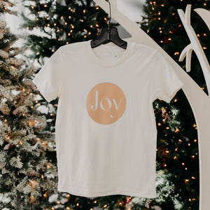 Youth Joy Tee in Sand by Bella Canvas
