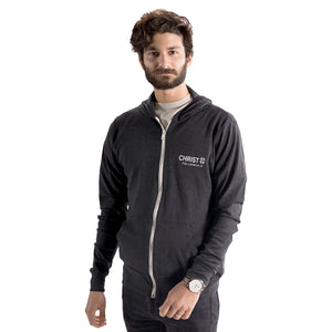 Unisex Christ Fellowship Zip Hoodie in Charcoal Grey
