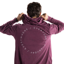 Unisex Christ Fellowship Zip Hoodie in Maroon
