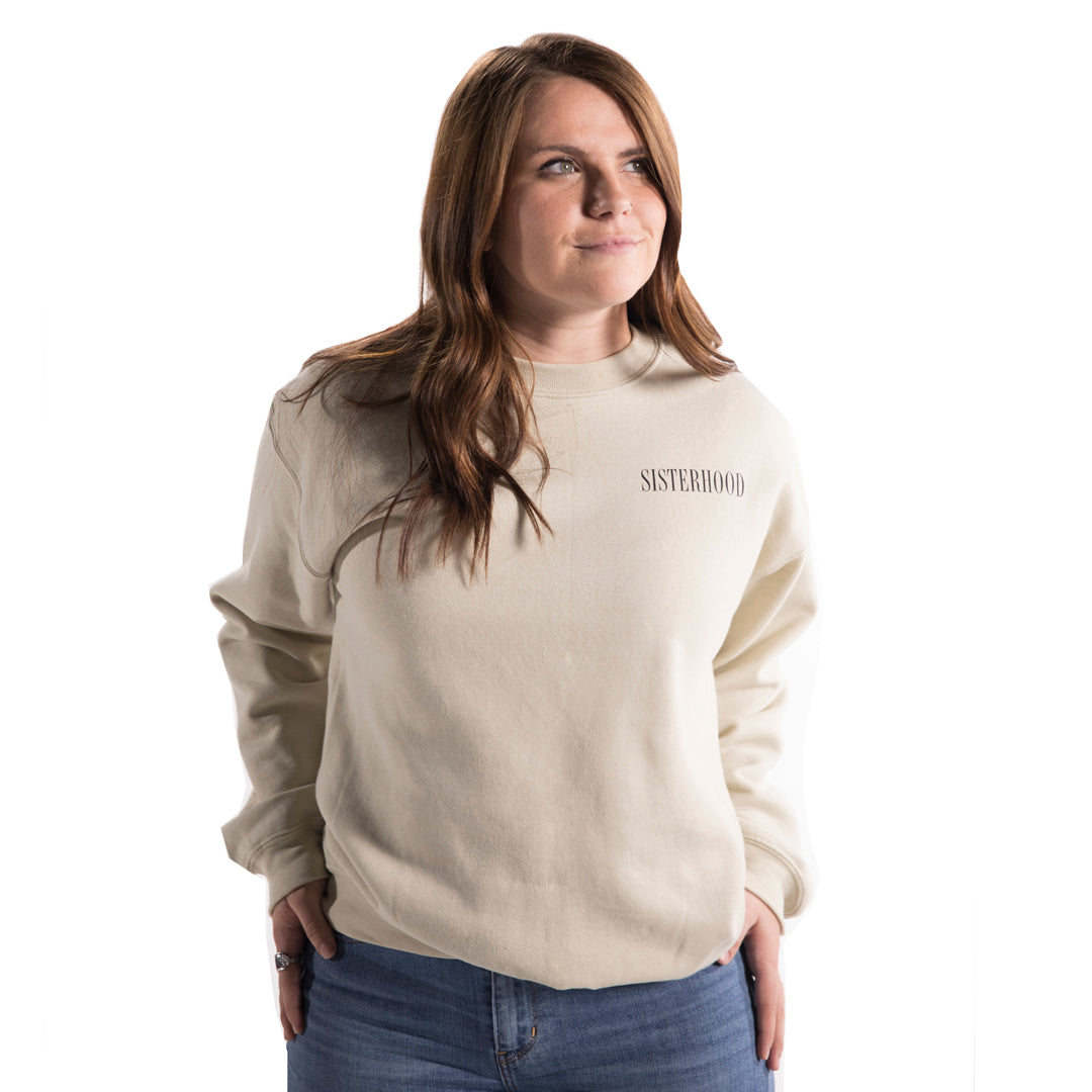 Women's Sisterhood Sweatshirt in Sand