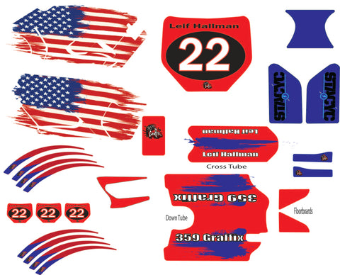 Stacyc Pro American Graphic Kit