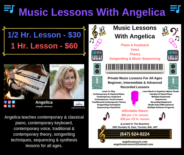 Music Lessons With Angelica - 1 hr. Lesson - $60 - angelicasmusic-com