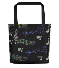 Load image into Gallery viewer, Angelica Tote Bag - Featuring All Over Music Print - angelicasmusic-com