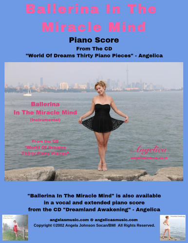 Angelica Sheet Music (Piano Score) - Ballerina In The Miracle Mind - angelicasmusic-com