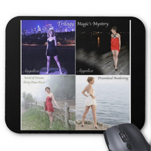 Load image into Gallery viewer, Angelica Mouse Pad - Featuring 4 CD Artwork (Black) - angelicasmusic-com