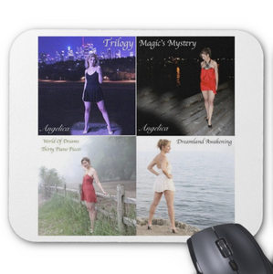 Angelica Mouse Pad - Featuring 4 CD Artwork (White) - angelicasmusic-com