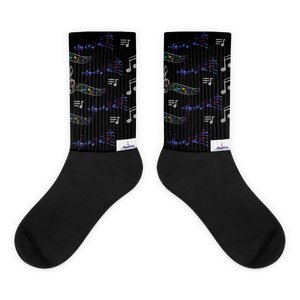 Angelica Socks - (Long) Music Note Design - angelicasmusic-com