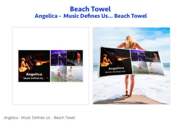 Angelica Beach Towel - angelicasmusic-com