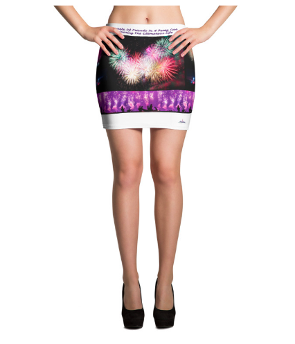 Angelica Mini Skirt - Song Lyrics Design - From The CD