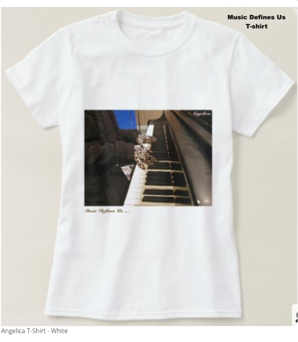 Angelica T-Shirt - Featuring Piano Keys - angelicasmusic-com