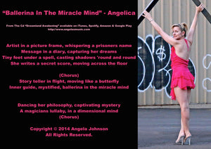 Ballerina In The Miracle Mind - Angelica - angelicasmusic-com
