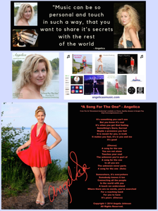 Angelica Autographed Poster - A Song For The One - angelicasmusic-com