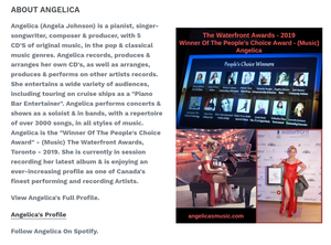 "Angelica Cap - Featuring Angelica In Cartoon & Quote - ""Music Defines Us"""