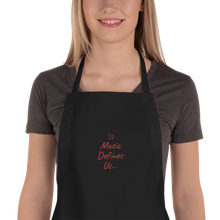 Load image into Gallery viewer, Angelica Embroidered Apron With Quote - angelicasmusic-com