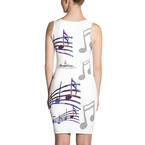 Angelica Dress - Featuring Music Print - angelicasmusic-com