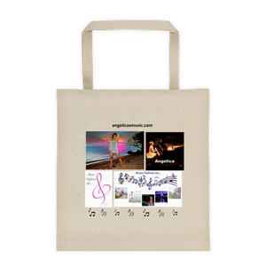 Angelica Tote Bag - Cotton Canvas, Featuring Angelica - angelicasmusic-com