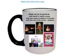 Load image into Gallery viewer, Angelica Coffee Mug - Featuring Black & White Deco - angelicasmusic-com