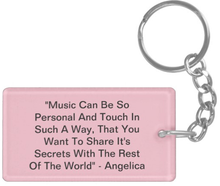 Load image into Gallery viewer, Angelica Keychain - Featuring Quote & Photo - angelicasmusic-com