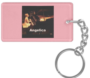 Angelica Keychain - Featuring Quote & Photo - angelicasmusic-com