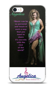 Angelica Quote 2 & Logo Cell Phone Case - angelicasmusic-com