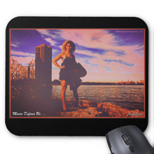 Load image into Gallery viewer, Angelica Mouse Pad - Featuring Angelica (Black) - angelicasmusic-com