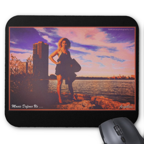 Angelica Mouse Pad - Featuring Angelica (Black) - angelicasmusic-com