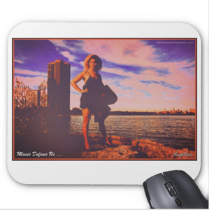 Angelica Mouse Pad - Featuring Angelica (White) - angelicasmusic-com