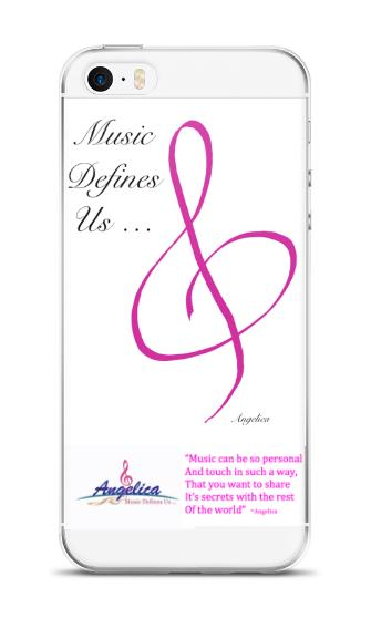 Angelica Quote & Logo Cell Phone Case - angelicasmusic-com