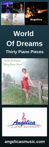 Angelica Bookmark - Featuring CD Artwork - World Of Dreams Thirty Piano Pieces - angelicasmusic-com