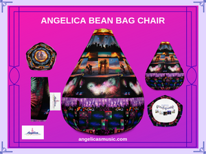 Angelica Bean Bag Chair - All Over Print Design - angelicasmusic-com