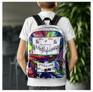 Angelica Backpack - Multicolored With Music Notes - Featuring Angelica's CD's - angelicasmusic-com