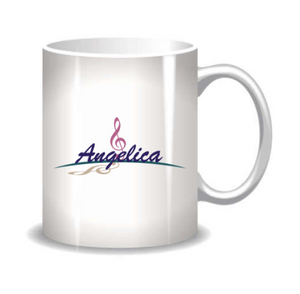 Angelica Coffee Mug - Featuring Angelica Logo - angelicasmusic-com