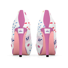 Load image into Gallery viewer, Angelica White & Pink Woman's Platform Heels - angelicasmusic-com