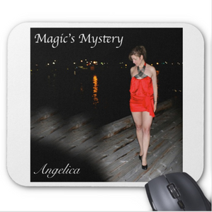 Angelica Mouse Pad - Featuring CD Artwork - Magic's Mystery (White) - angelicasmusic-com