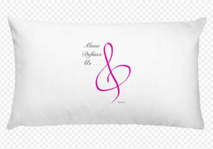 Angelica Pillow - Featuring Quote & Treble Clef - angelicasmusic-com