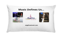 Load image into Gallery viewer, Angelica Pillow - Featuring 4 CD's, Angelica Logo & Quote - angelicasmusic-com