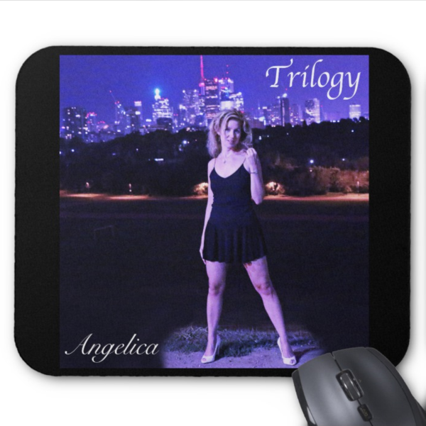 Angelica Mouse Pad - Featuring CD Artwork - Trilogy (Black) - angelicasmusic-com
