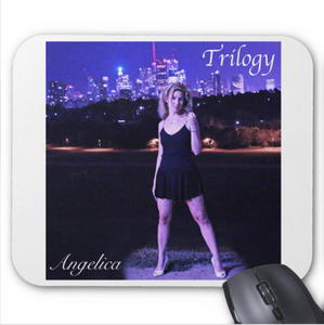 Angelica Mouse Pad - Featuring CD Artwork - Trilogy (White) - angelicasmusic-com