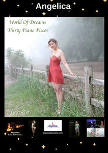 Angelica Poster - Featuring CD Artwork - World Of Dreams Thirty Piano Pieces - angelicasmusic-com