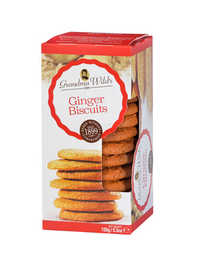 Grandma Wild's Ginger Biscuits Window Box 150g
