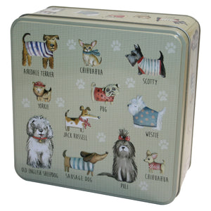 Grandma Wild's Embossed Dogs in Jumpers Tin 160g