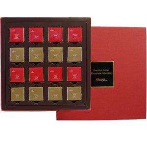 Domori Milk and Dark 16pcs Napolitains Gift Box