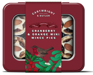 Cartwright & Butler Cranberry & Orange Mini Mince Pies in Tin 115g
